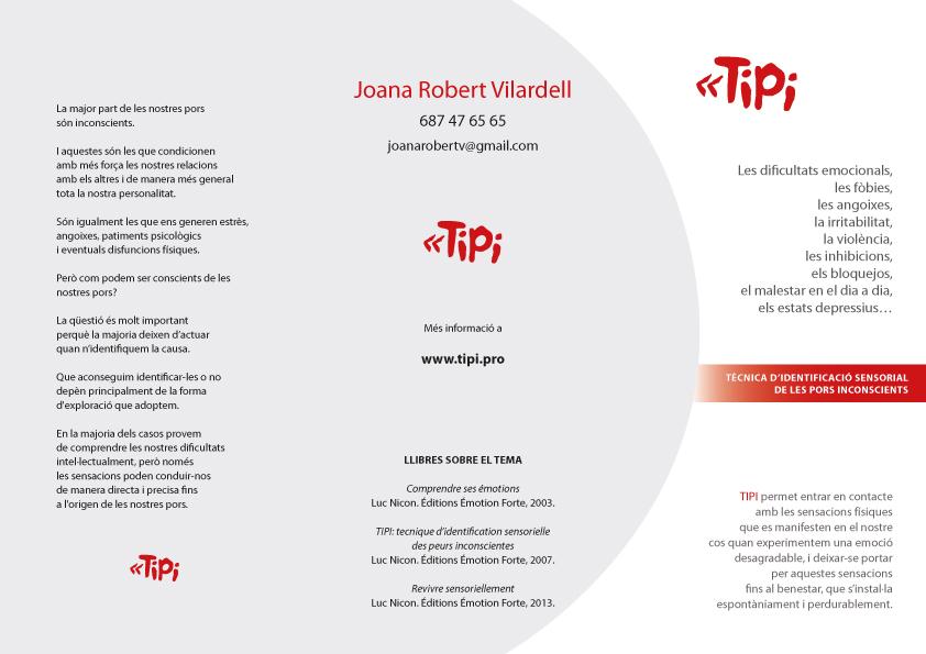Tríptico TIPI de Joana Robert